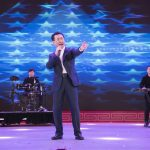 "The Chairman of Wanda Group, Wang Jianlin, sings the rock song ""Nothing to my name"" at the annual gala after announcing the successful transition of The Group."